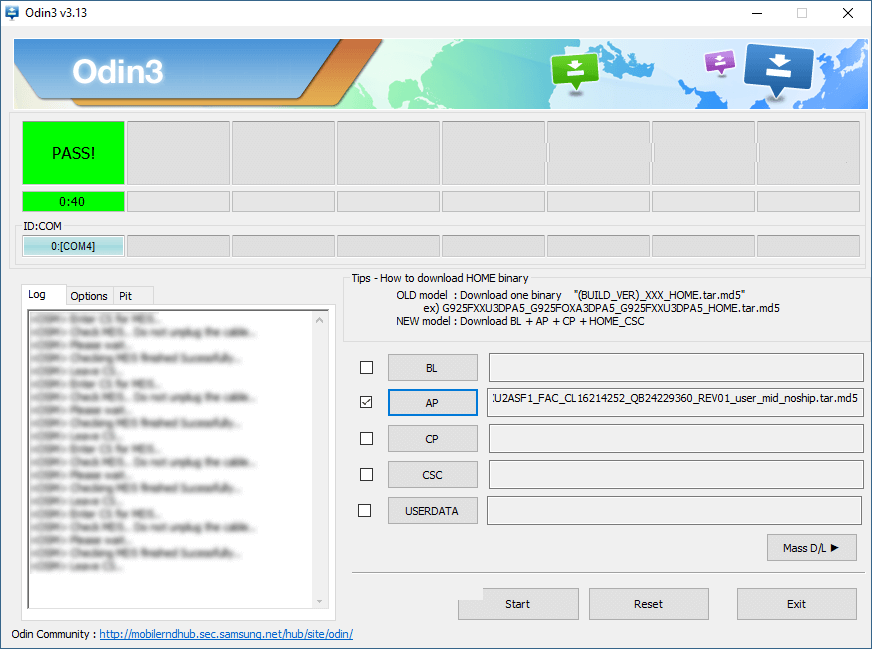 odin combination success - Download install Samsung SM-G977P Combination File