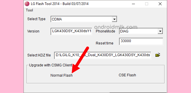 lg flash tool normal flash - How to download & use LG Flash Tool