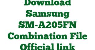 Download Samsung SM-A205FN Combination File Official link