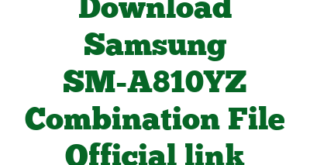 Download Samsung SM-A810YZ Combination File Official link