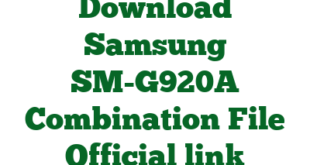 Download Samsung SM-G920A Combination File Official link