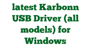 Download the latest Karbonn USB Driver (all models) for Windows Computer